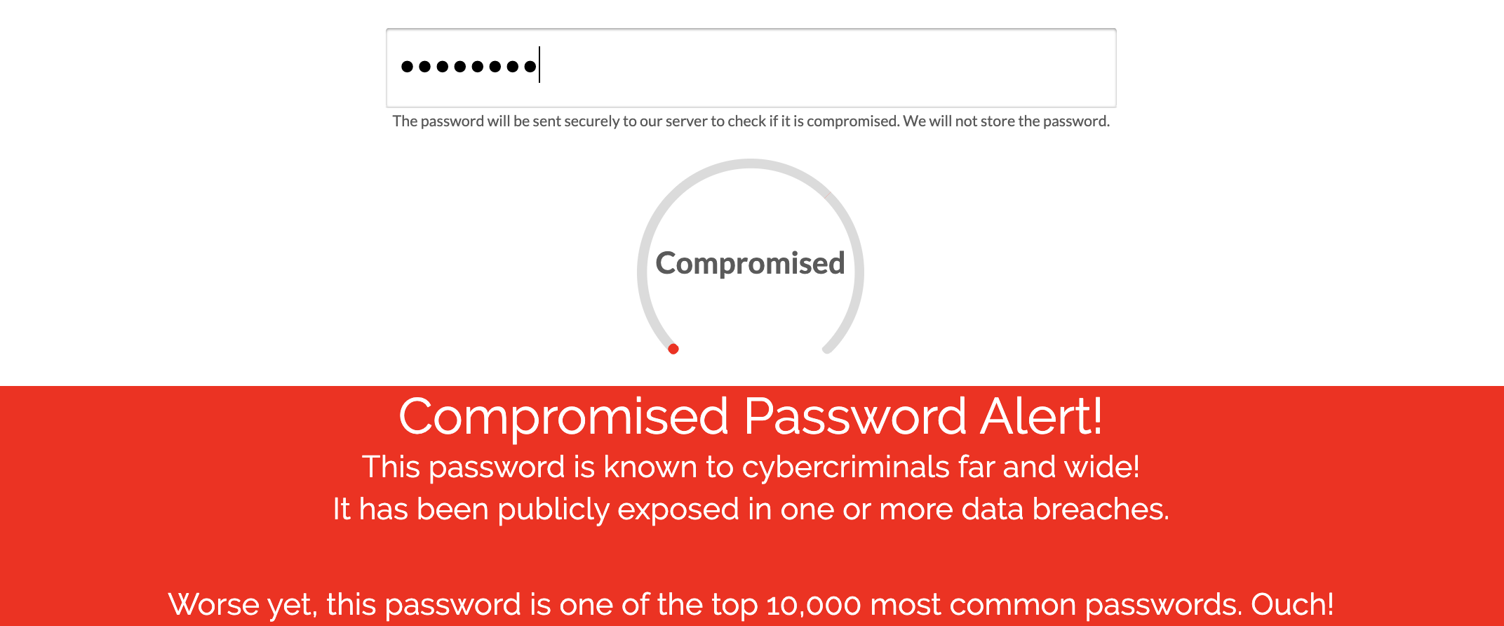 Exposed Password Screening
