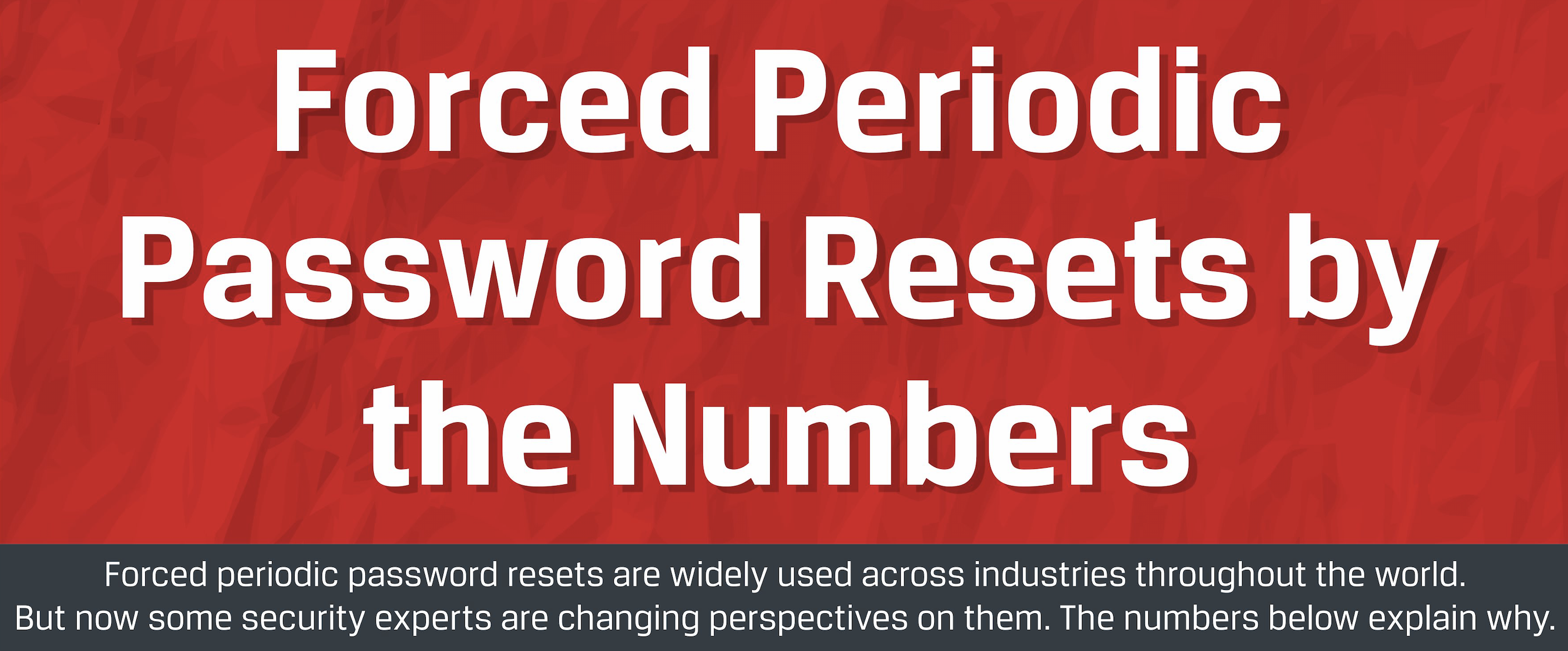 Forced Periodic Password Reset By the Numbers.