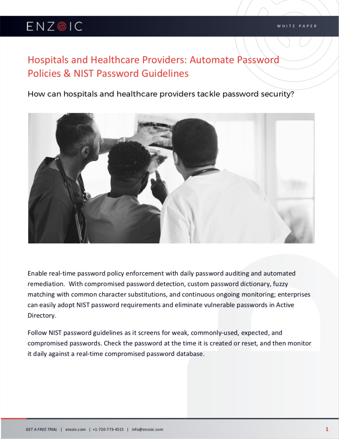 Hospitals Password Policy & NIST Password Guidelines