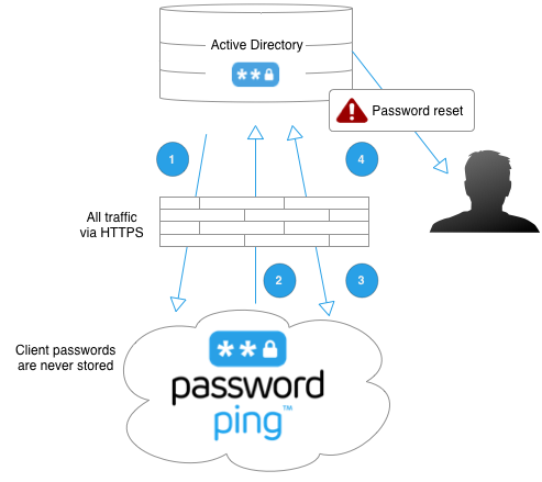 Flow for PasswordPing for Active Directory