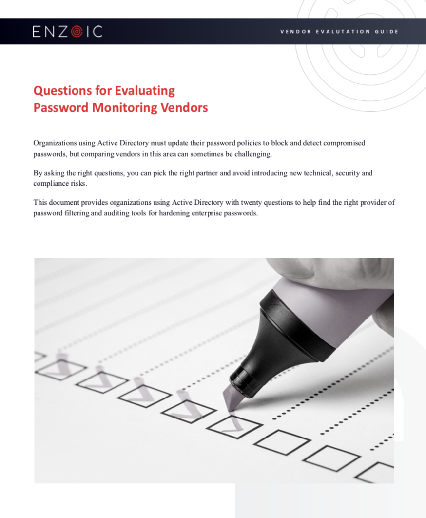 Questions for Evaluating Password Monitoring Vendors